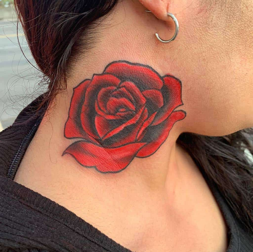 neck red rose tattoos sheridanervin