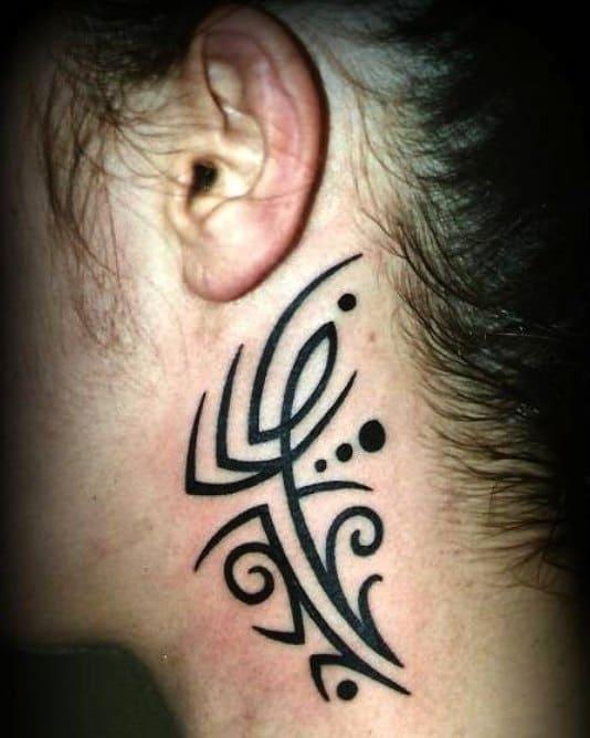 neck simple tribal tattoos tatuaggidaclaudio