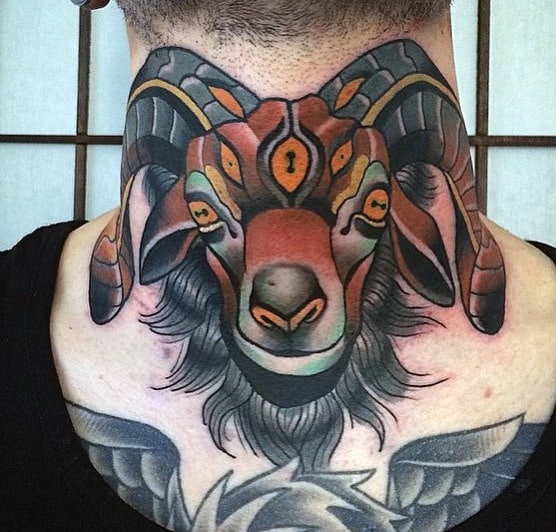 Neck Tattoos For Men Ideas