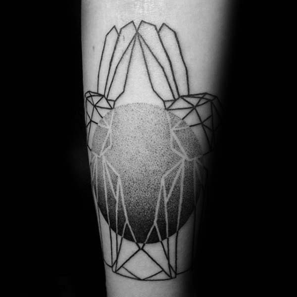 Negative Space Rabbit Gemini Twins Tattoo For Men