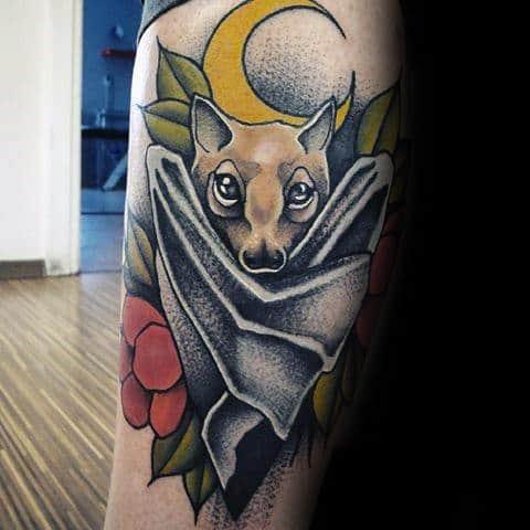 Traditional bat tattoo
