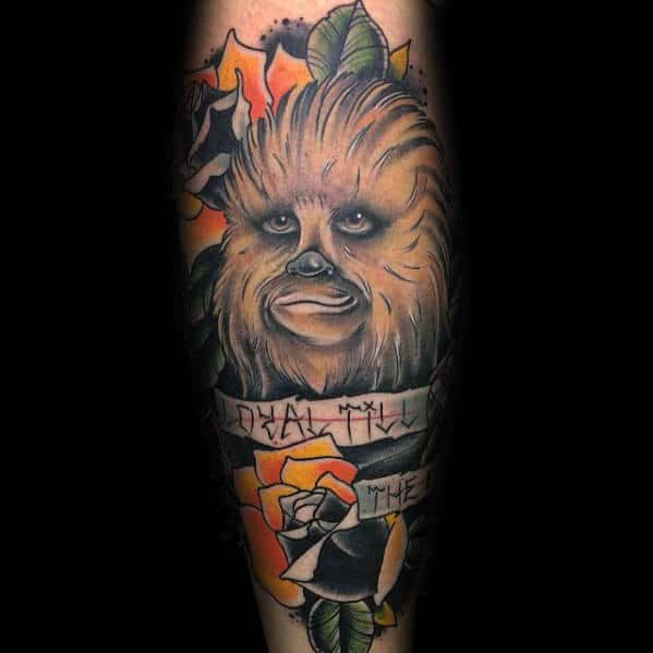 images 50 Han Solo Tattoo Designs For Men – Star Wars Ideas