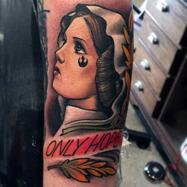 Neo Traditional Designs Star Wars Hope Tattoo On Forearms