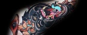 20 Neo Traditional Gorilla Tattoo Designs For Men – Ape Ink Ideas