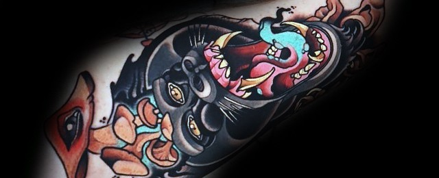Neo Traditional Gorilla Tattoo Designs For Men
