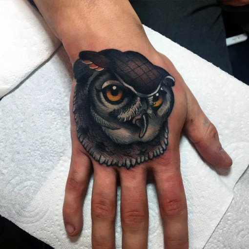 Neo Traditional Owl Tattoo Ideas For Men