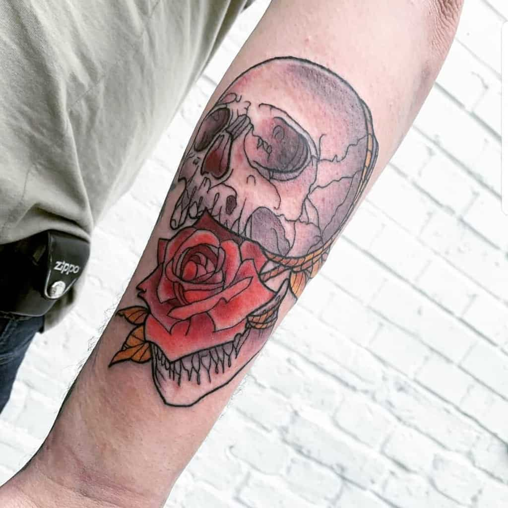 neo-traditional-skull-and-rose-tattoo-vontrapp.tattoo