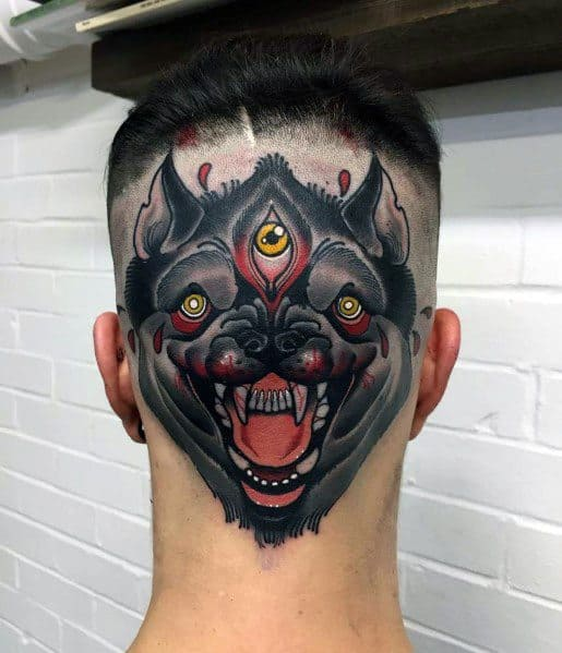 Neo Traditional Wolf Tattoos For Men