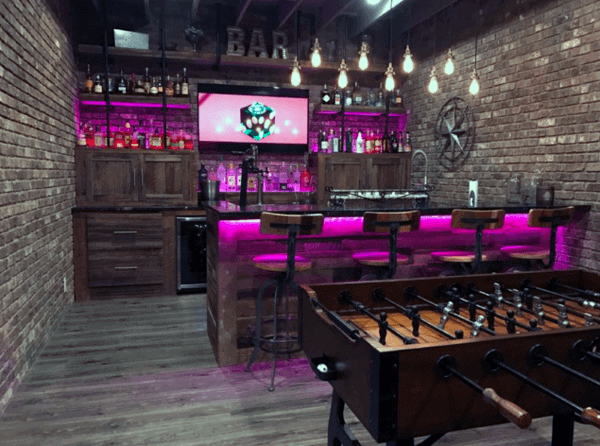 Neon Led Rustic Bar Ideas