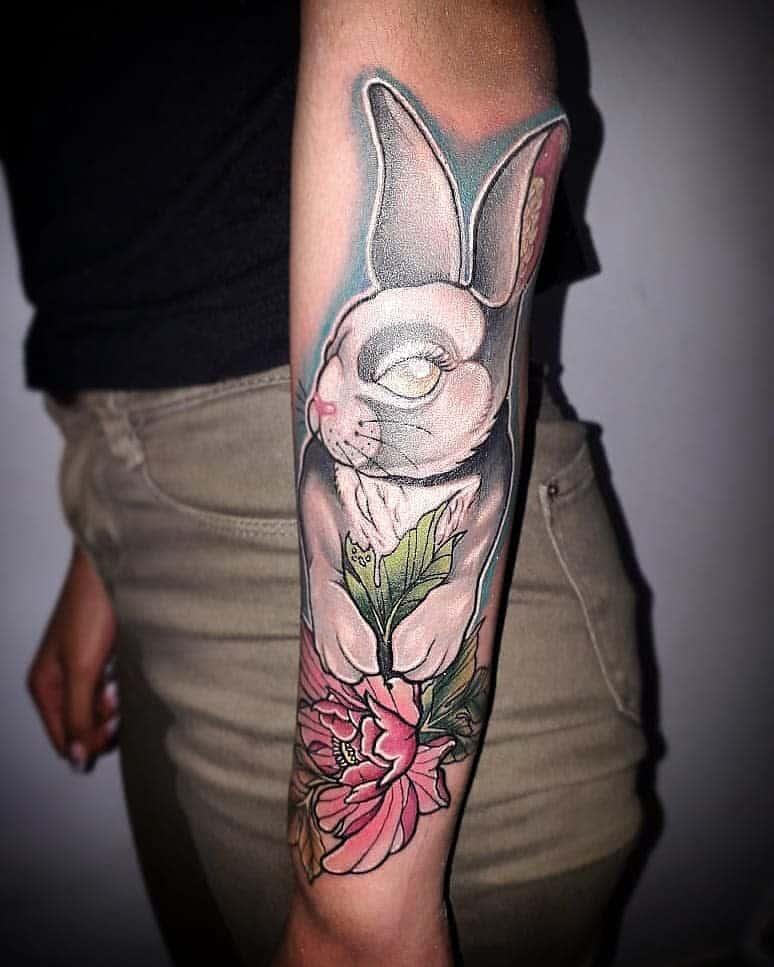Neotrad Rabbit Tattoos Art Emece
