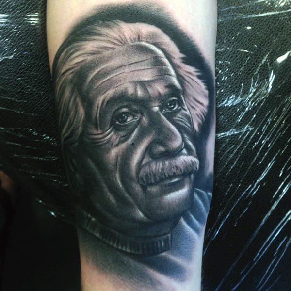 Nerdy Mens Science Tattoos Of Einstein