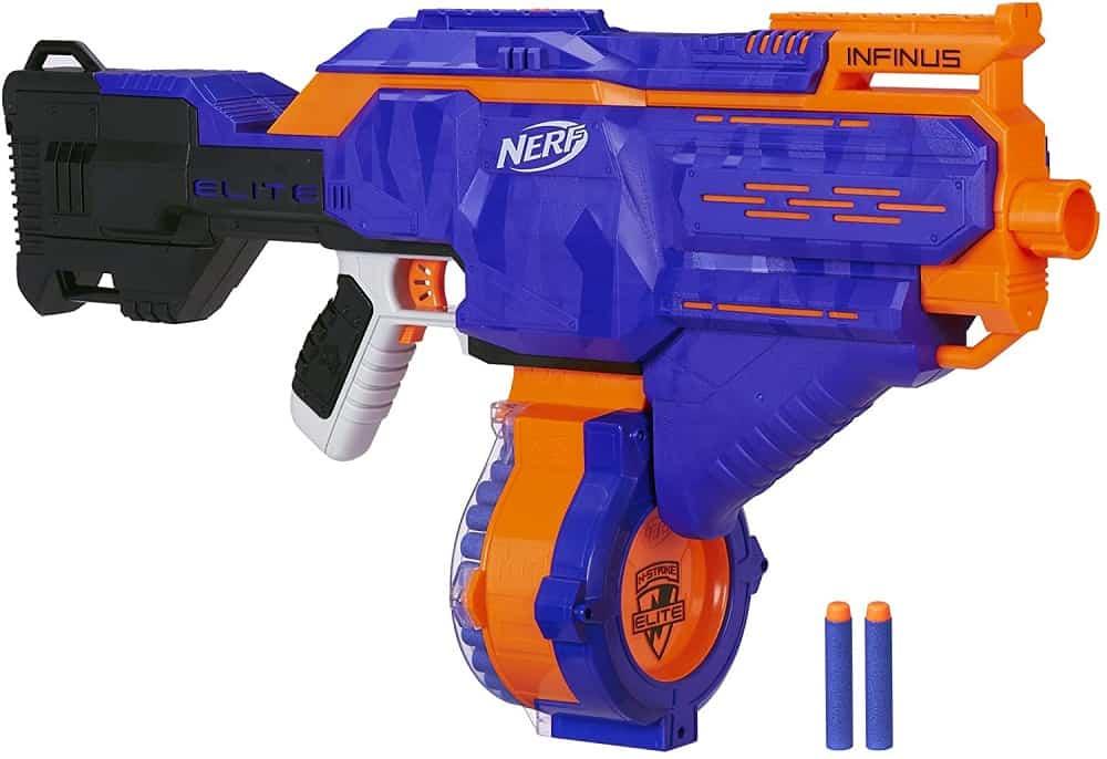 nerf infinus n strike elite toy motorized blaster with speed load technology
