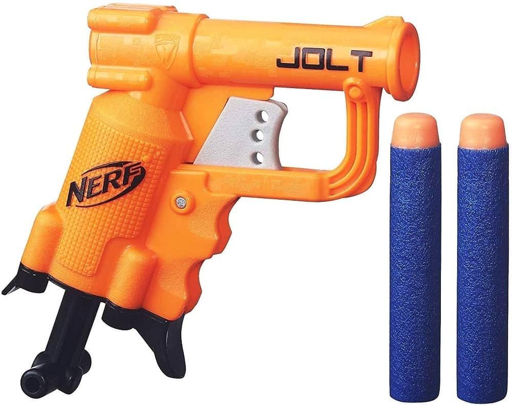nerf n strike elite jolt blaster isolated on white background