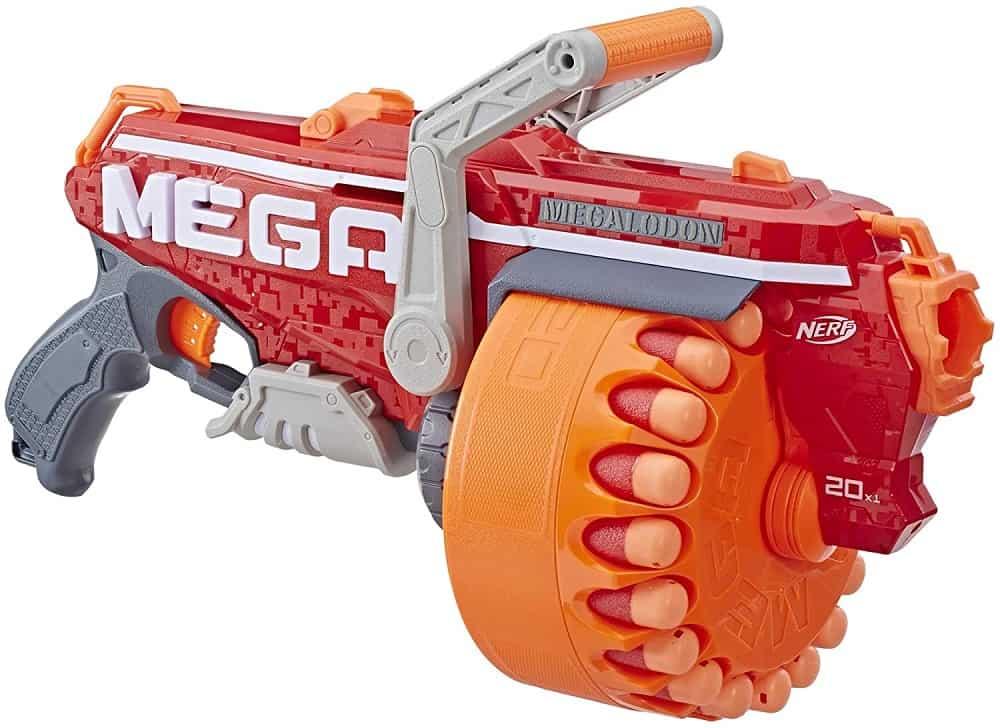 nerf n strike mega megalodon toy blaster isolated on white background
