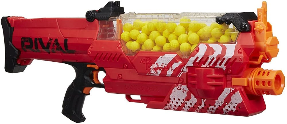 nerf rival nemesis mxvII 10k, red isolated on white background