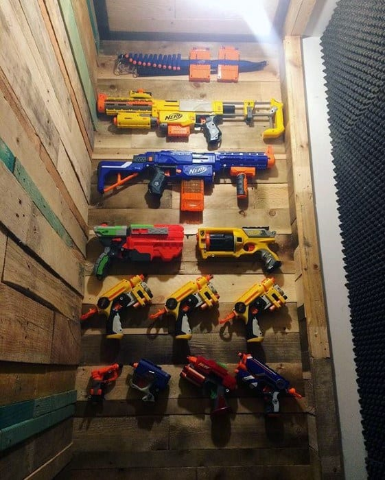 Nerf Toy Gun Bachelor Pad Wall Art For Men