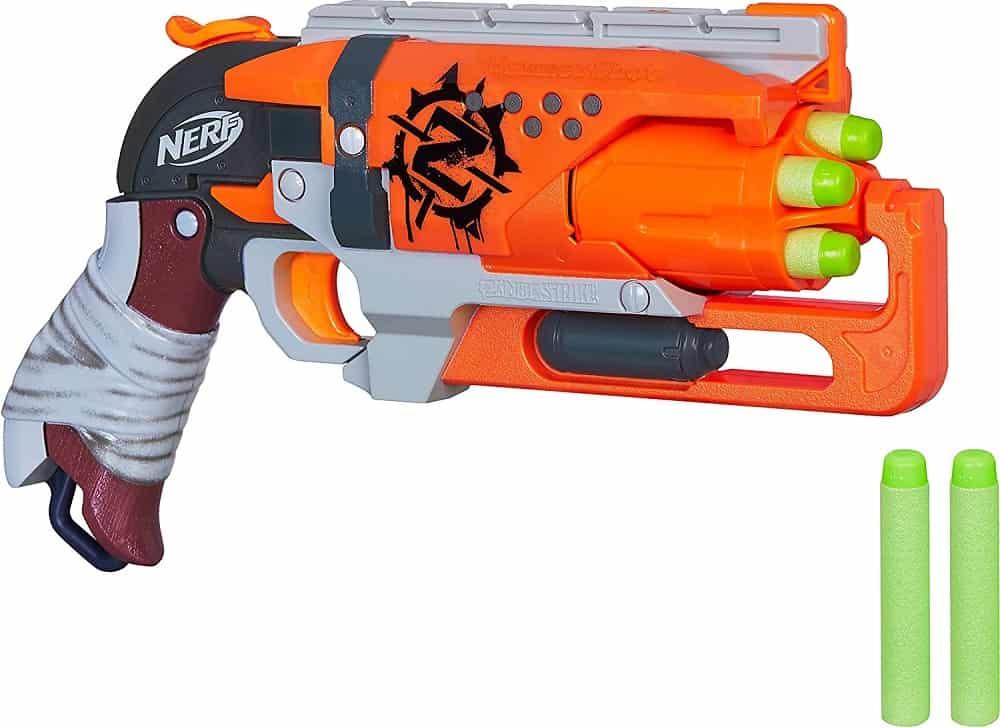 nerf zombie hammer shot nerf gun isolated on white background