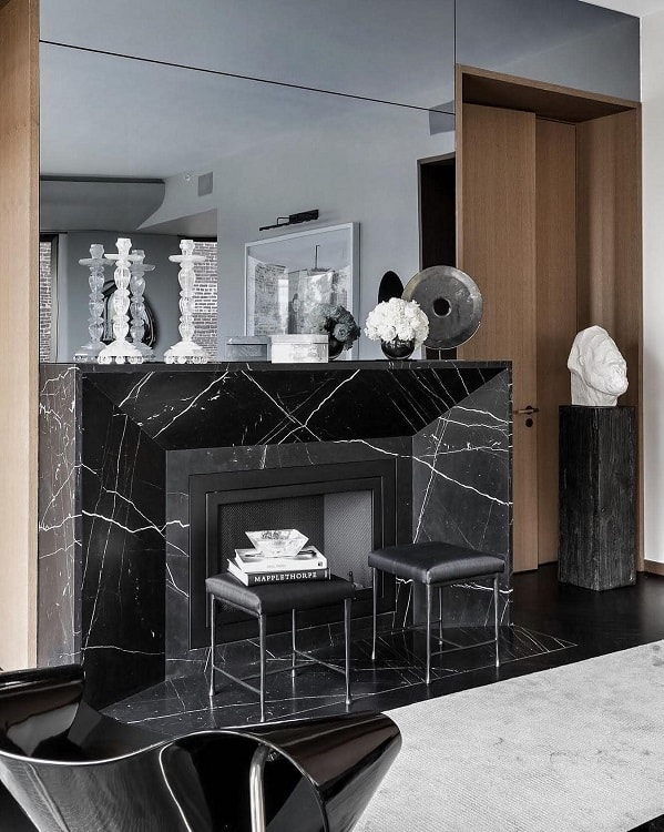 Neromarquina Marble Fireplace Surround Elinteriorslondon