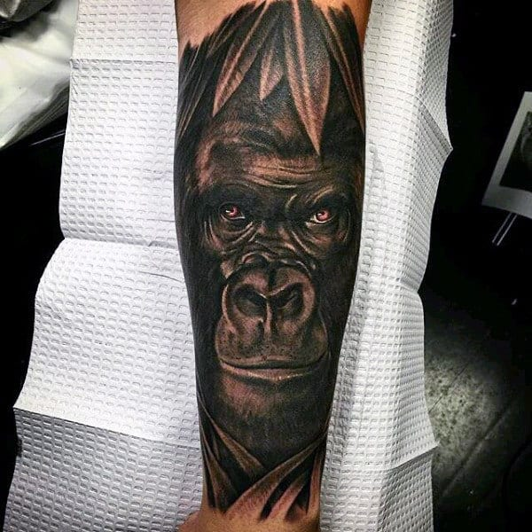 Nesting Gorilla Tattoo Designs For Men