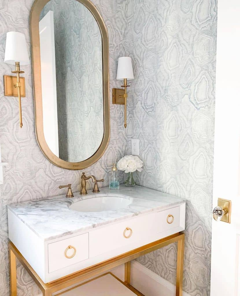 The Top 70 Bathroom Wallpaper Ideas - Interior Home and ...