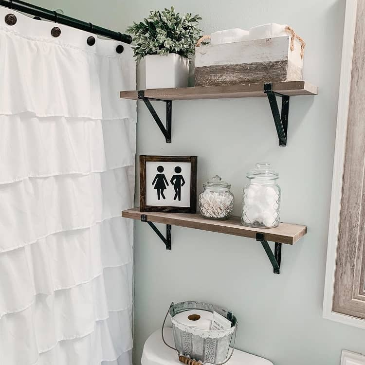 Neutral Colored Bathroom Shelf Brackets Letsstayhome Blog