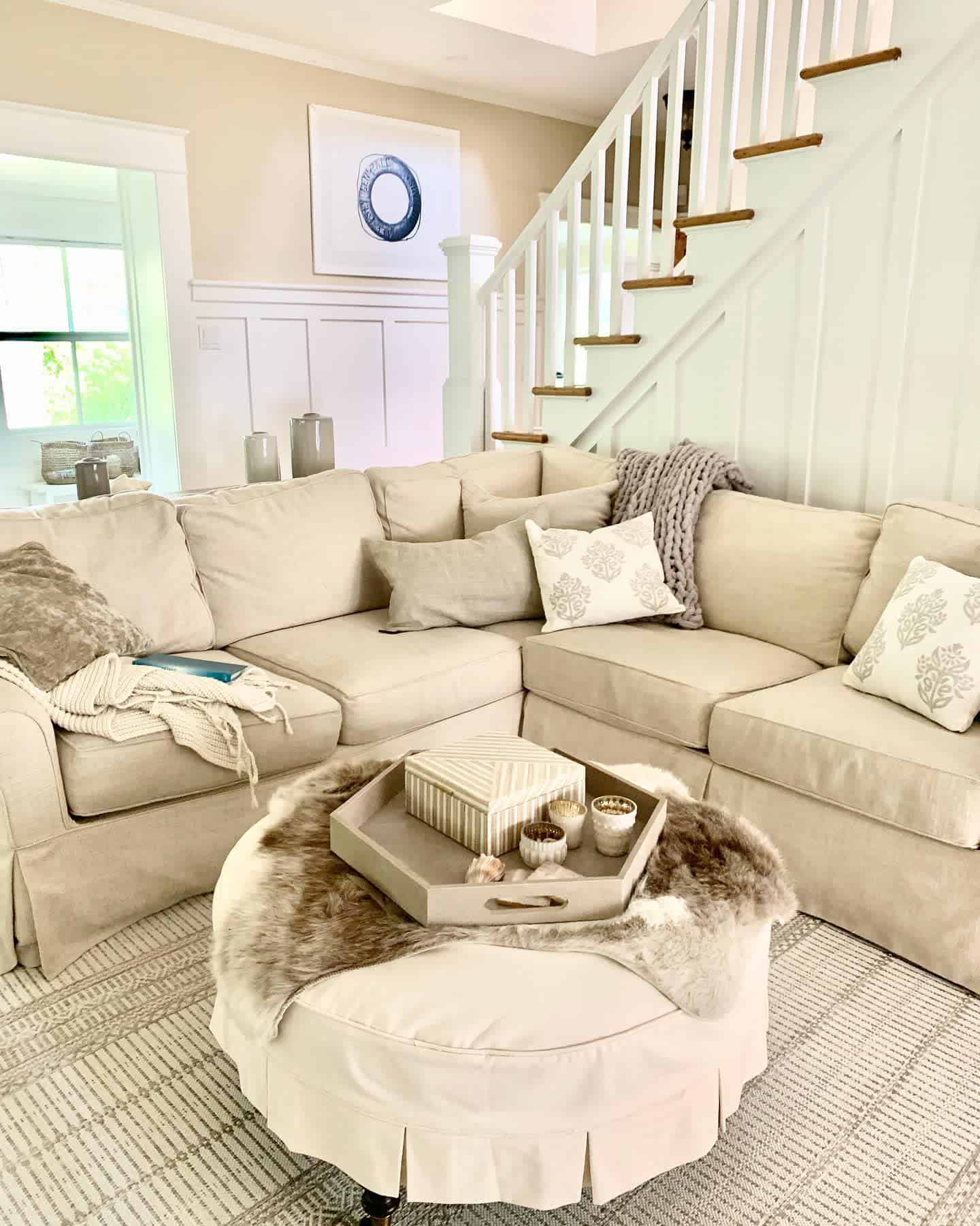 Neutral Colors Farmhouse Living Room Ideas Mycoastalchiclife