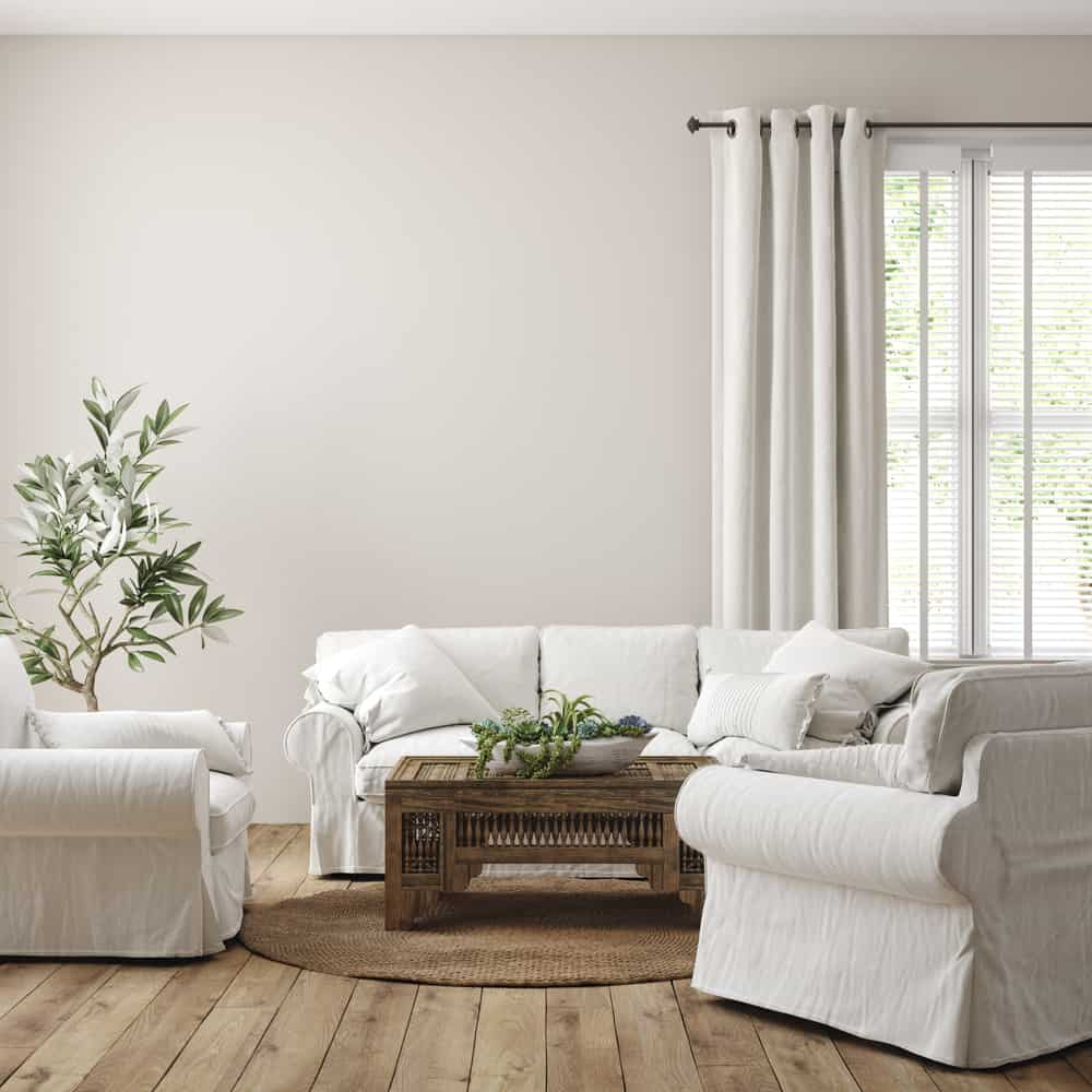 Neutral Colors Farmhouse Living Room Ideas