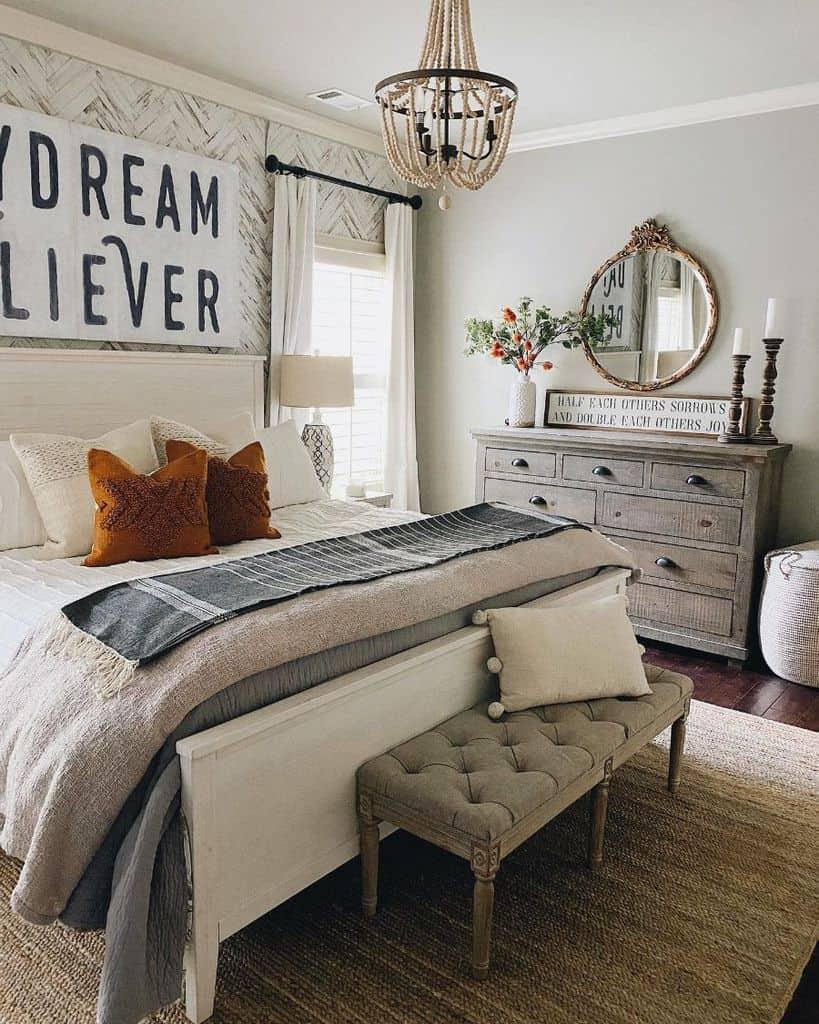 neutral farmhouse bedroom ideas shegaveitago