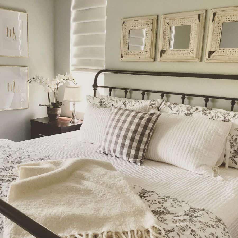 neutral farmhouse bedroom ideas shiplap.and.lilacs