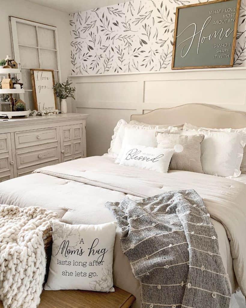 neutral farmhouse bedroom ideas simplyminedesigns