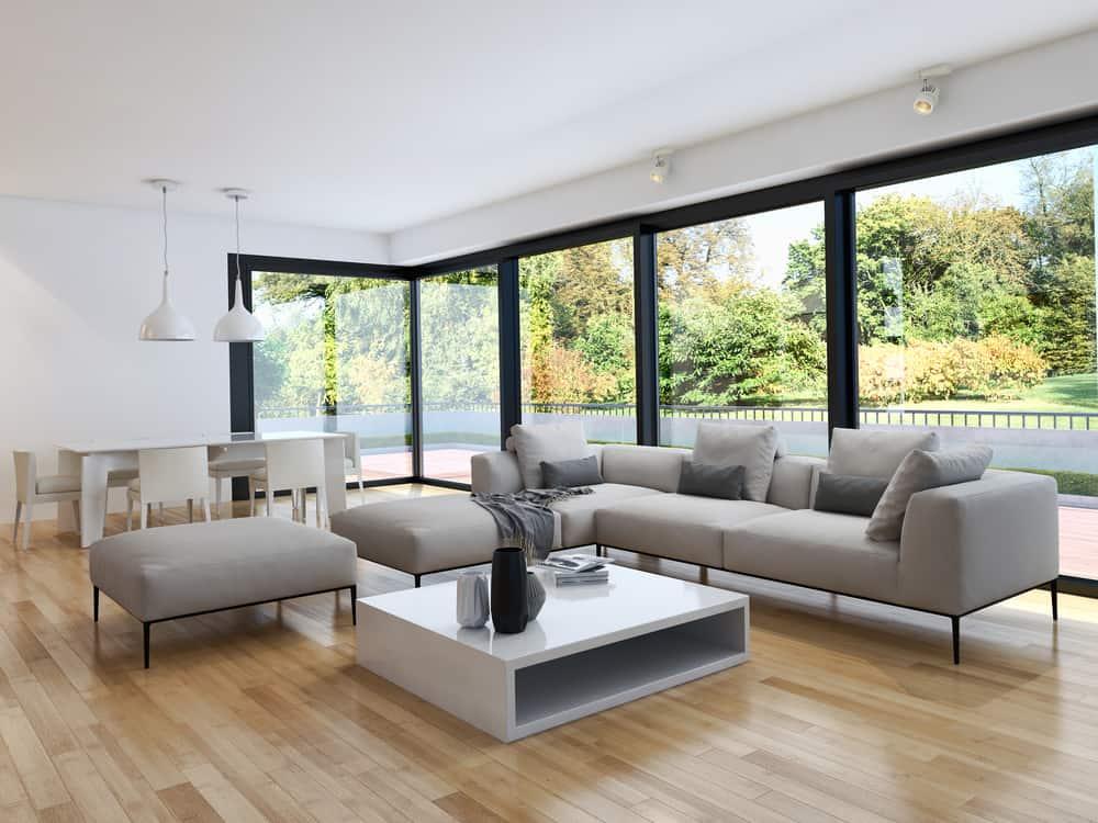 Neutral Minimalist Living Room 1