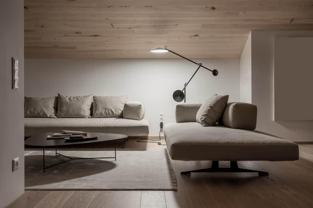 Neutral Minimalist Living Room 2