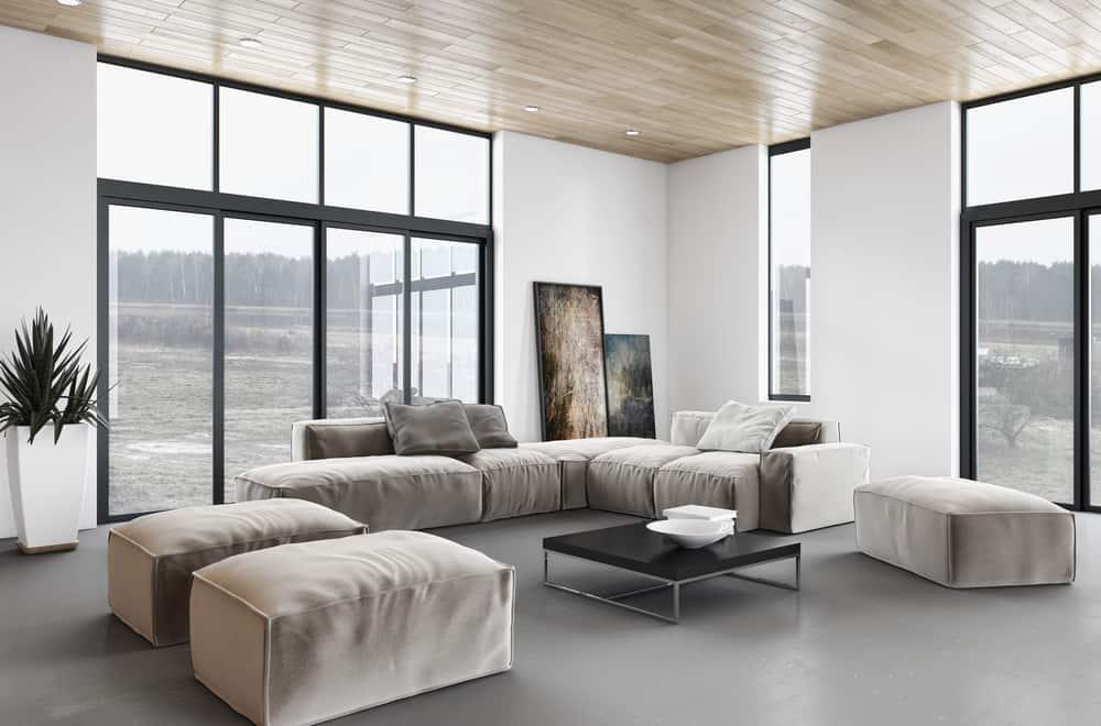 Neutral Minimalist Living Room 3