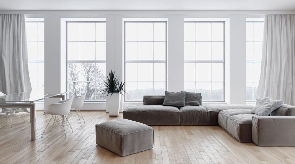 Neutral Minimalist Living Room 5