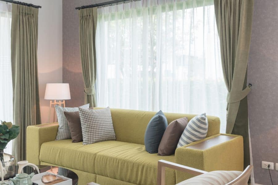 Neutral Muted Color Living Room Curtain