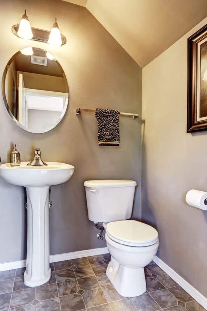 Neutral Small Powder Room Ideas 1