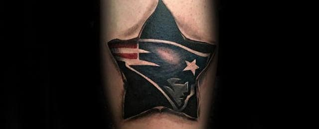 New England Patriots Tattoo Designs For Men