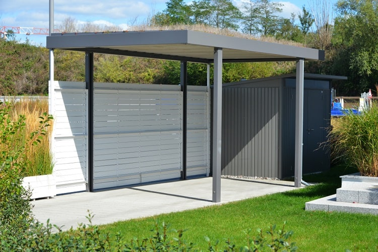New Metal Carport With Green Roof