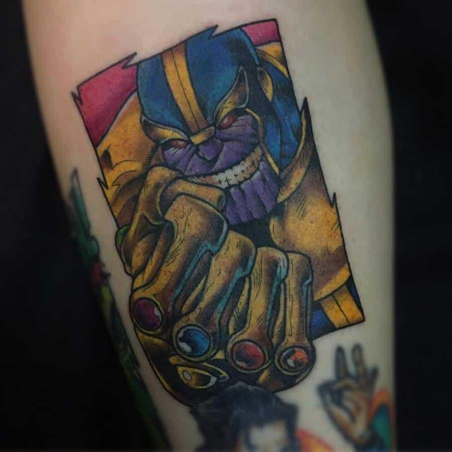 New School Cartoon Thanos Tattoo Brabotattoo