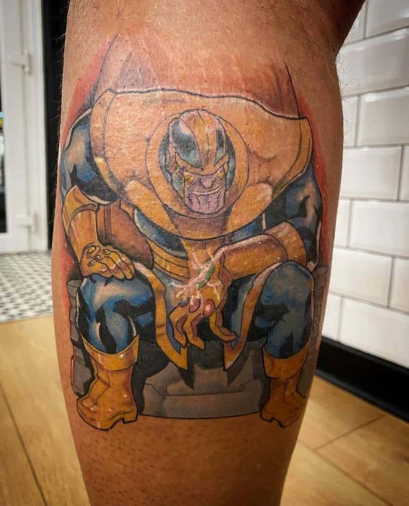 New School Cartoon Thanos Tattoo Chrisminshall.tattoos