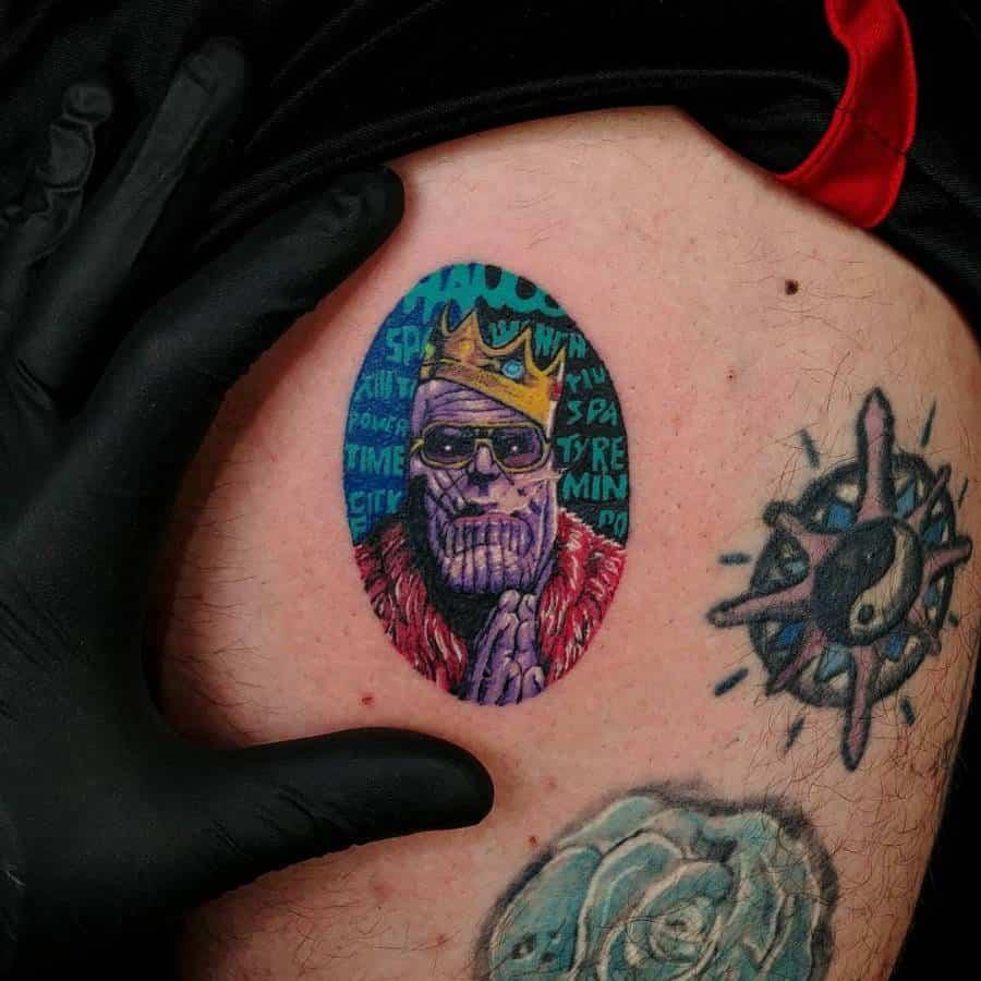 New School Cartoon Thanos Tattoo Gravekeeper Bng Tattoo