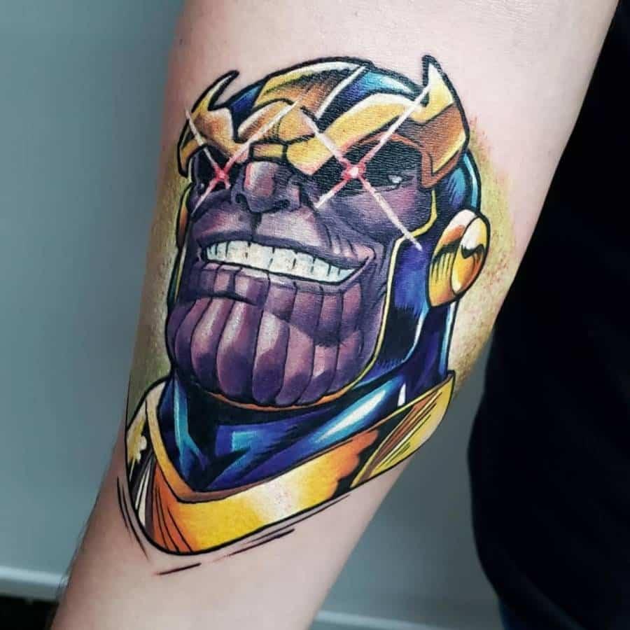 New School Cartoon Thanos Tattoo Juniorreistattoo