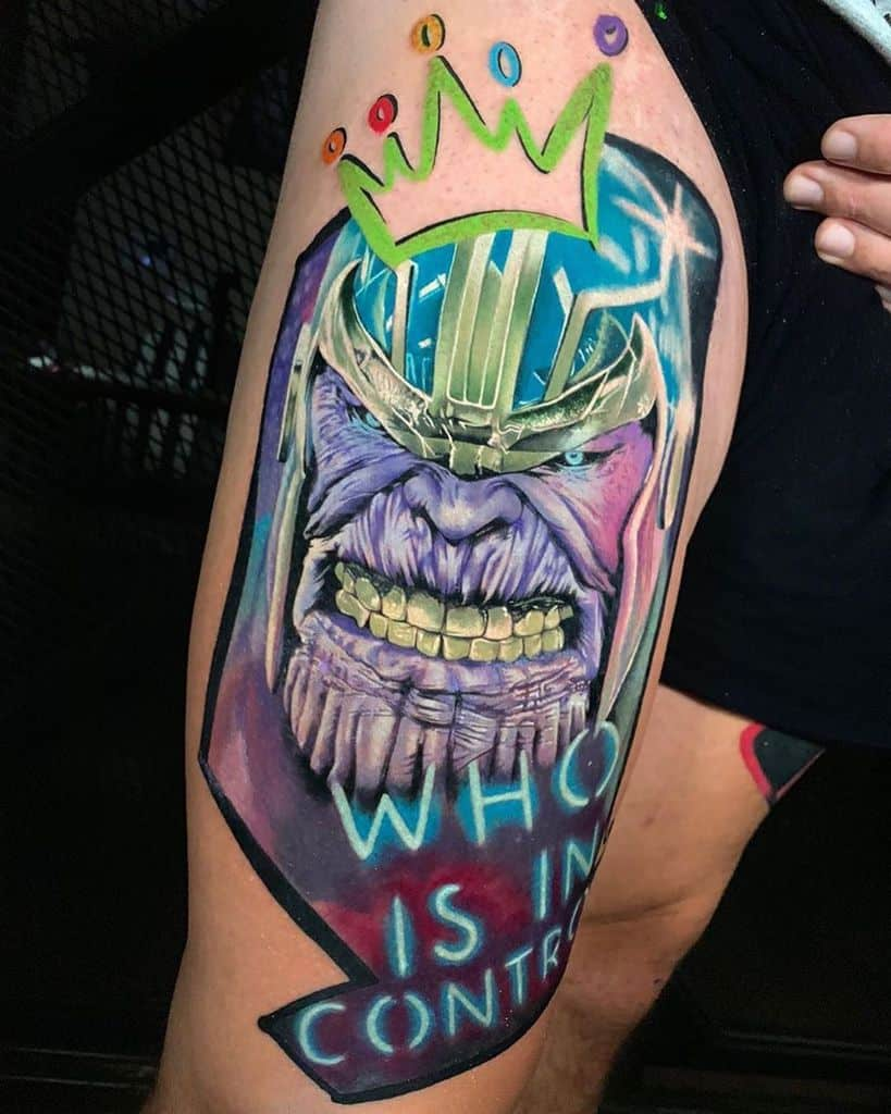 New School Cartoon Thanos Tattoo The.inkdex