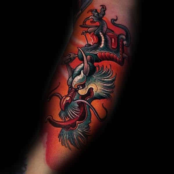 new-school-modern-mens-3d-arm-dragon-tattoo