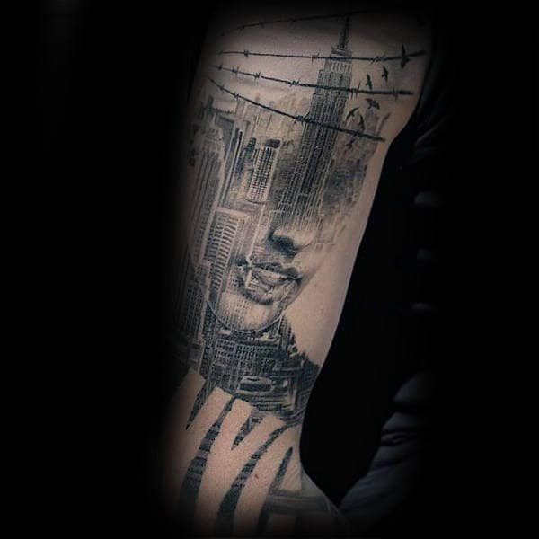 New York City Male Building Tattoos
