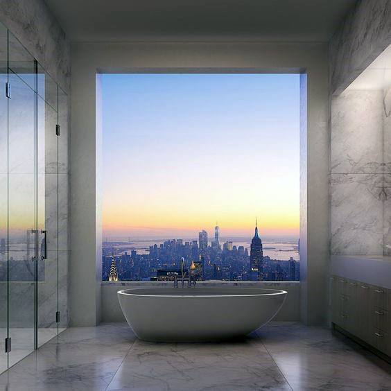 New York City Penthouse Master Bathroom Ideas