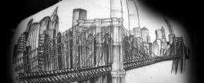60 New York Skyline Tattoo Designs For Men – Big Apple Ink Ideas