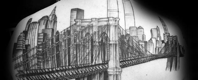 New York Skyline Tattoo Designs For Men