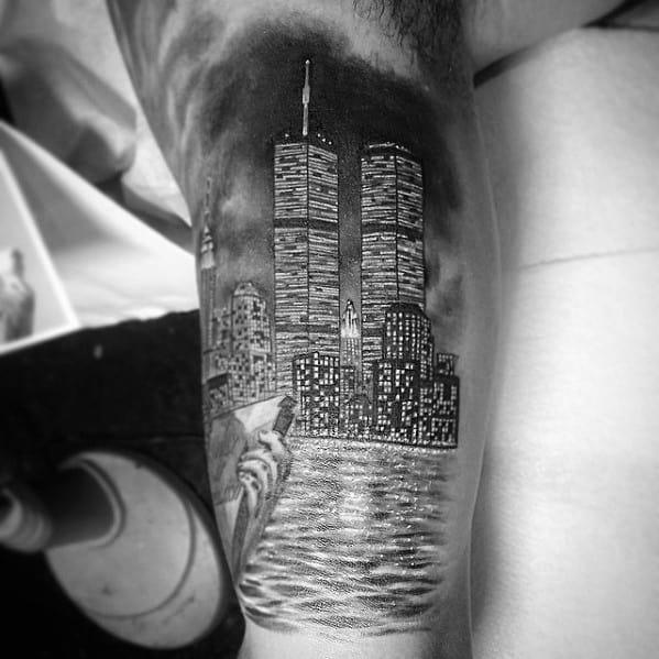 New York Skyline Tattoo Ideas For Gentlemen