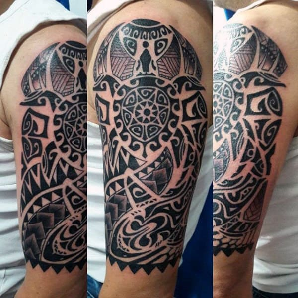 New Zealand Culture Maori Half Sleeve Tattoos For Guys